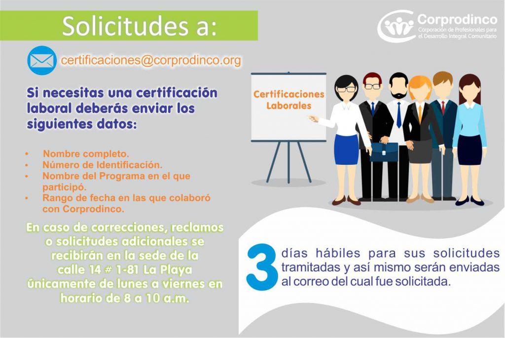 Solicitud Certificaciones Laborales