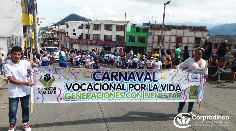 Generaciones con Bienestar realiza Carnaval Vocacional por la Vida, en la Unión – Nariño