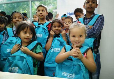 La humanidad no tienes fronteras proyecto de Acnur en alianza estratégica con Corprodinco, entrega kits escolares a la comunidad 28 de Febrero