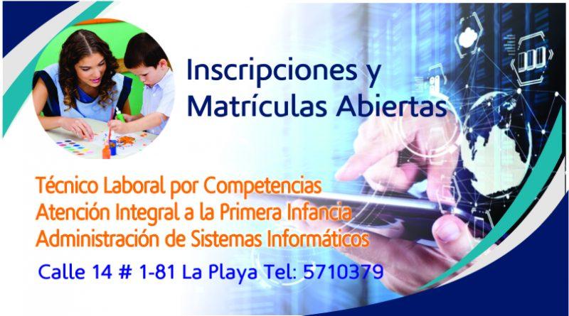 Inscripciones Abiertas Carreras Técnicas por Competencias Laborales